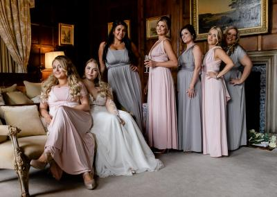 Elmore Court bridesmaids dressed