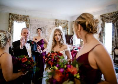 Bride almost ready at Cliveden House