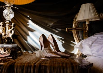 Wedding shoes at Cliveden House