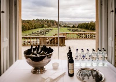 Drinks laid out at Cliveden House