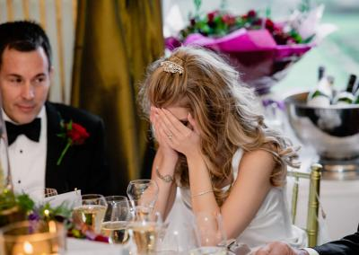 Crying bride at Cliveden House