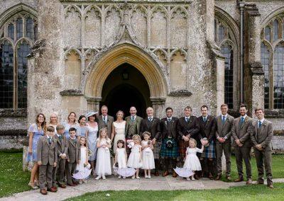 Bridal party North Cadbury Court