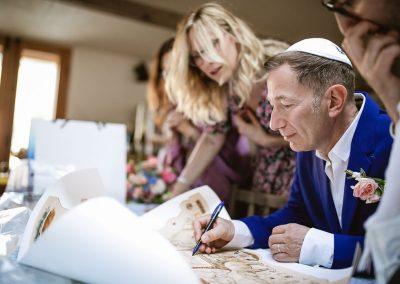 Jewish wedding signing