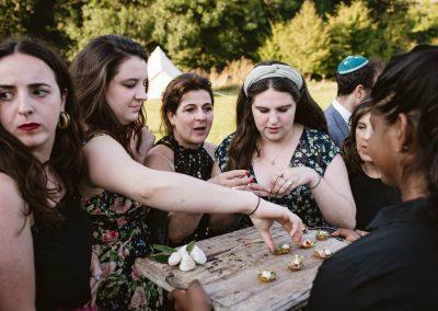 Jewish wedding canapés