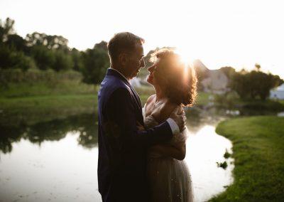 Jewish wedding sunset