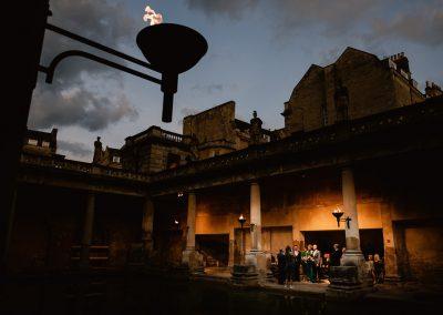 Roman bath sunset ceremony