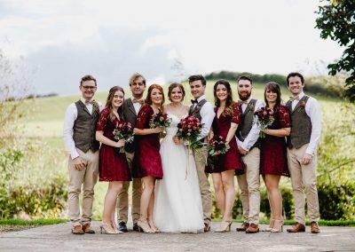 Bridal Party Shot at The Tythe Barn