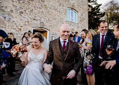 Confetti outside at The Watermill