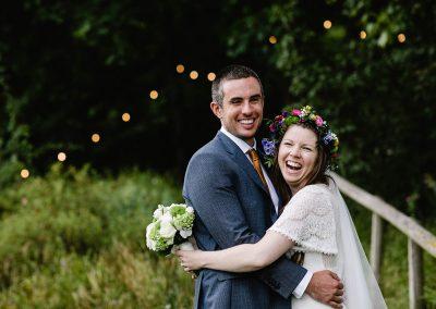 Happy couple at Priston Mill