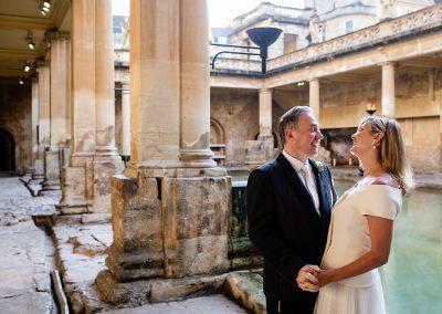 Roman baths sunrise ceremony
