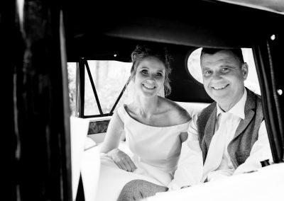 Coombe Lodge wedding, Chloe arrives