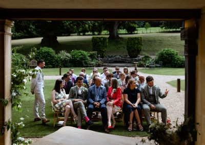 Coombe Lodge wedding, guest await the bride
