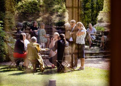 Coombe Lodge wedding, mingling