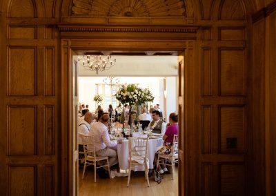 Coombe Lodge wedding, wedding breakfast
