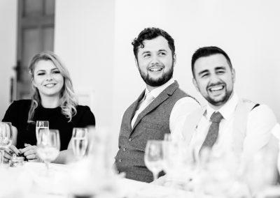 Coombe Lodge wedding, speeches