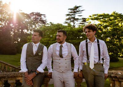 The guys, Coombe Lodge wedding