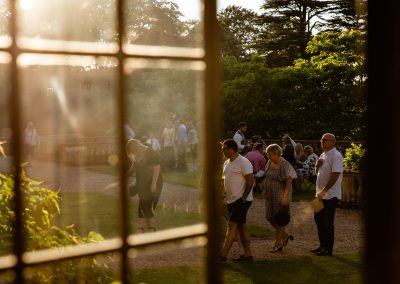 Evening mingling at Coombe Lodge wedding