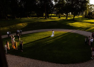 Coombe Lodge wedding, first dance, outside