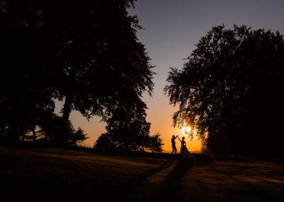 Coombe Lodge wedding, sunset shot