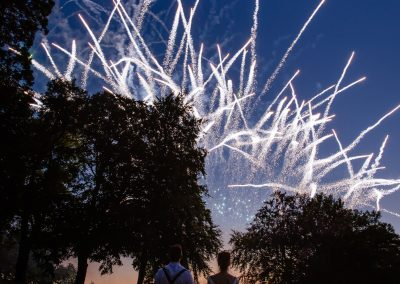 Fireworks at Coombe Lodge wedding