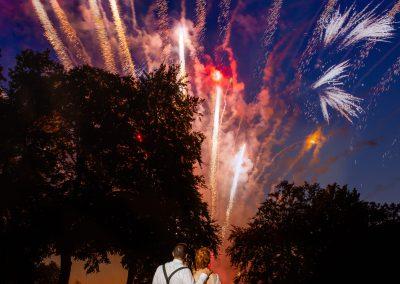 Coombe Lodge wedding, fireworks